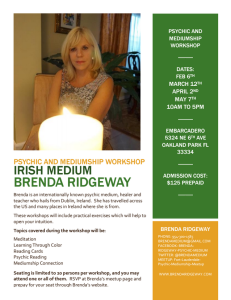 Psychic and Mediumship Workshop