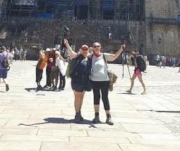 Brenda completes her journey on the El Camino de Santiago