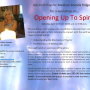Upcoming Workshop – April 1st – Opening Up To Spirit